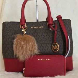 Michael Kors (3pcs) Savannah LG Satchel